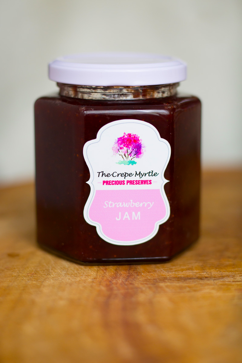 strawberry jam ,he crepe myrtle tea & coffee rooms,stroud, handmade