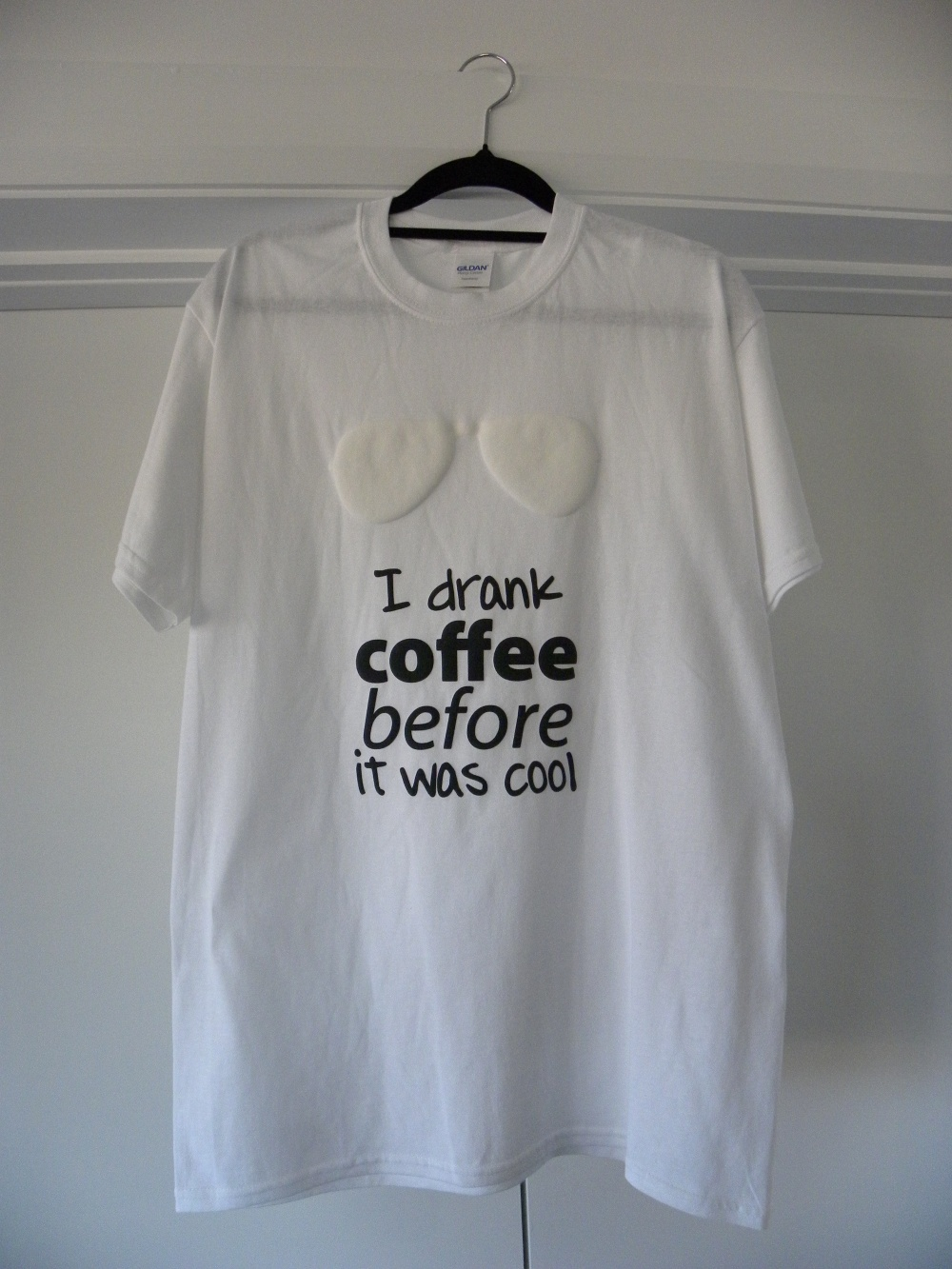 white I drank coffee shirt