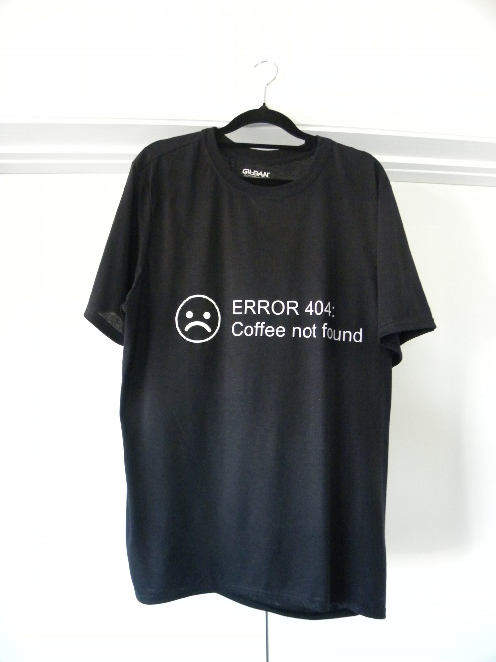 black error 404 shirt