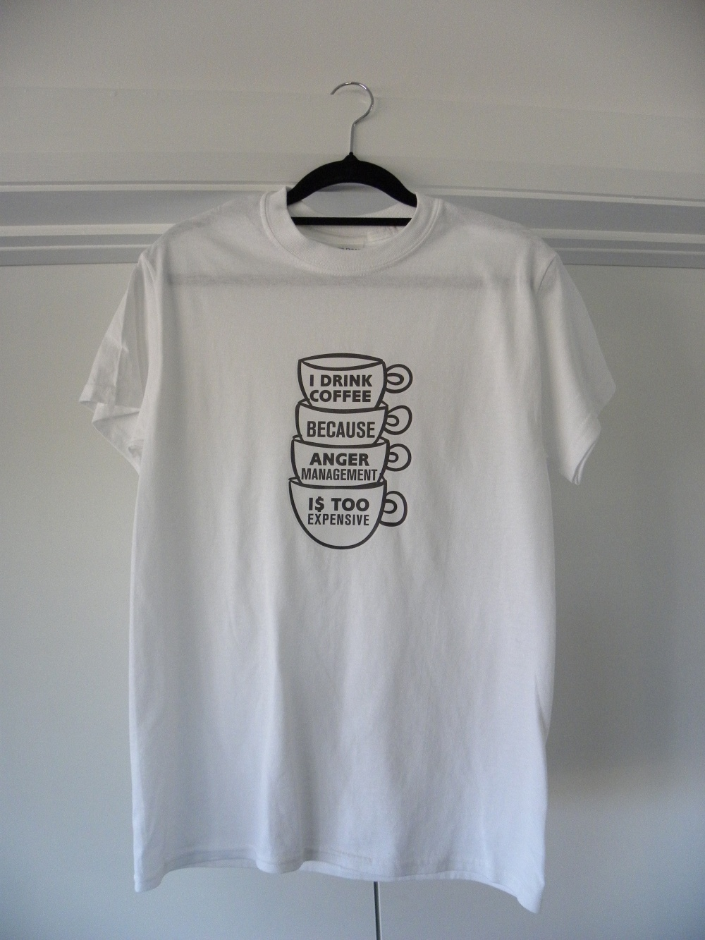 white anger management shirt