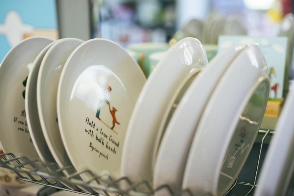 hold a friend with both hands plates merchandise